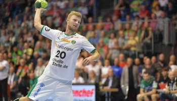 Philipp Weber - SC DHfK Leipzig vs. SC Magdeburg - Handball Bundesliga - GETEC-Arena Magdeburg am 02.09.2018 - Foto: Rainer Justen