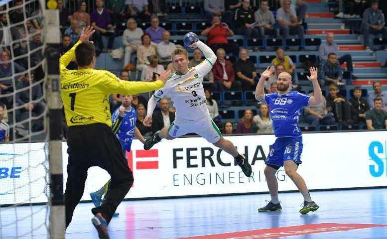 VfL Gummersbach vs. SC DHfK Leipzig - Handball Bundesliga - Franz Semper - Foto: Rainer Justen