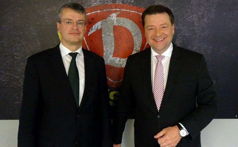 Michael Bürger und Holger Scholze - Foto: Dynamo Dresden