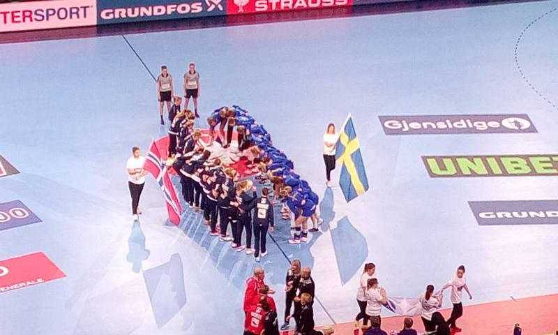 Handball EM 2018 - Norwegen vs. Schweden - AccorHotelsArena Paris Platz 5 - Foto: SPORT4FINAL