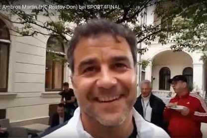 Handball EHF Champions League Final4 Budapest 2019: Ambros Martin (HC Rostov-Don) im SPORT4FINAL-Interview. Foto: SPORT4FINAL