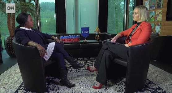 FIFA Generalsekretärin Fatma Samoura im CNN Interview mit Amanda Davies - Foto: CNN