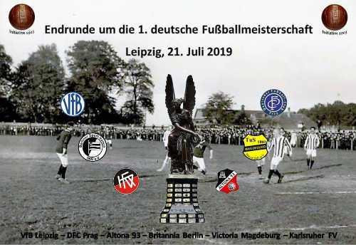 Turnier zu Ehren der ersten deutschen Fußball-Meisterschaft - Foto: 1. FC Lok Leipzig