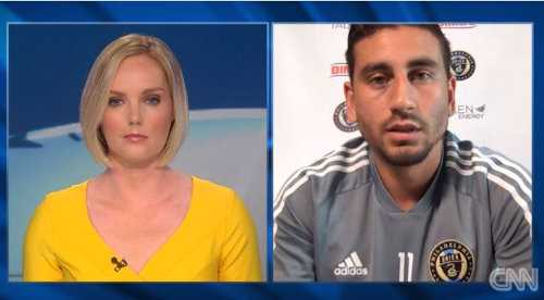 Amanda Davies und Alejandro Bedoya - Foto: CNN International