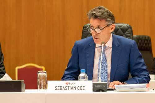 Leichtathletik WM 2019 - IAAF Präsident Sebastian Coe - IAAF Council Meeting Doha 23 Sep 2019 - Foto: © Matthew Quine for IAAF