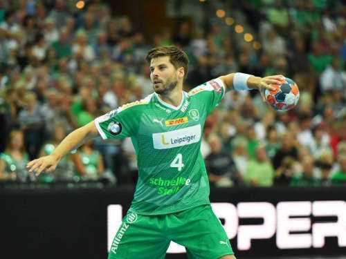 Patrick Wiesmach - SC DHfK Leipzig vs. Frisch Auf Göppingen - Arena Leipzig am 15.09.2019 - Foto: Rainer Justen