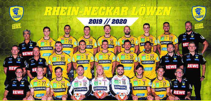 Rhein Neckar Löwen Handball Saison 2019 2020