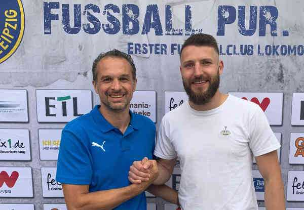Almedin Civa und Tom Nattermann - Foto: 1. FC Lok Leipzig