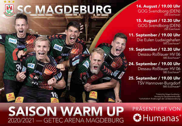 SC Magdeburg Testspiele 2020 - Foto: SC Magdeburg