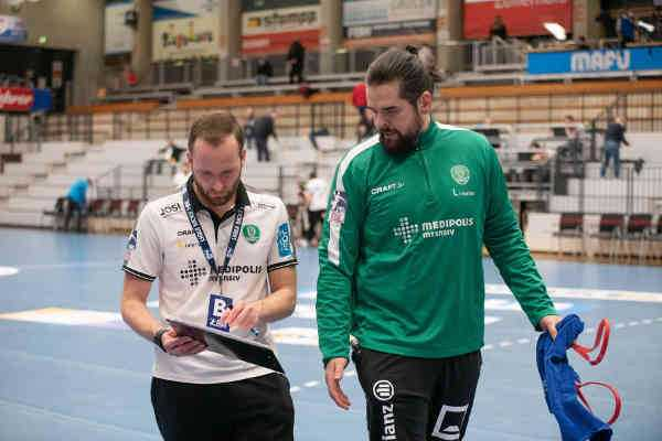 SC DHfK Leipzig - Andre Haber und Milos Putera - Foto: Klaus Trotter