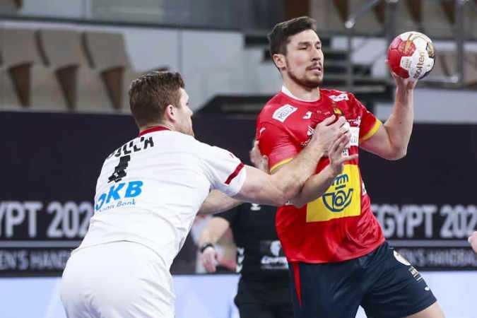 Handball WM 2021 Ägypten - Deutschland vs. Spanien - Copyright: © IHF / Egypt 2021