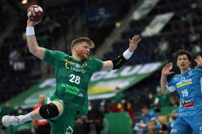 Handball Bundesliga - Maciej Gebala - SC DHfK Leipzig vs. TVB Stuttgart - Foto: Karsten Mann