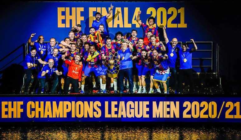 Handball EHF Final4 2021 - FC Barcelona Sieger - Copyright: Uros Hocevar, Axel Heimken / EHF