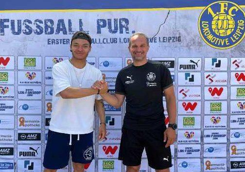 Fußball Regionalliga Nordost - Theo Ogbidi - Foto: 1. FC Lok Leipzig