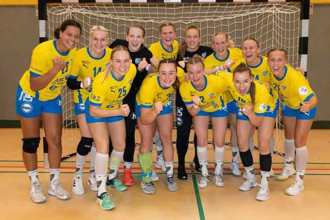 Handball 2. Bundesliga - HC Leipzig beim TV Aldekerk 07 am 26.09.2021 - Foto: HC Leipzig