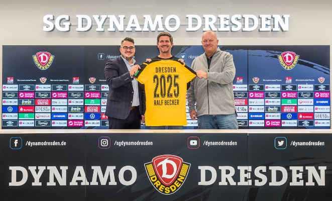 Fußball 2. Bundesliga - Dynamo Dresden - Ralf Becker - Michael Ziegenbalg und Jens Hieckmann - Foto: SGD/Dennis Hetzschold