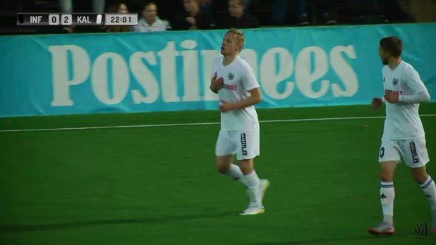Атс Пурье отпраздновал свой гол - 0:2!