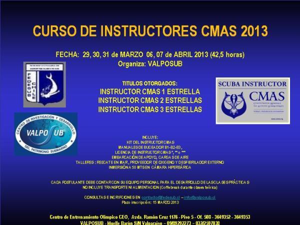 Curso Instructores CMAS