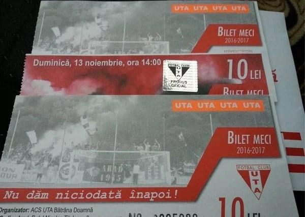 """Cine vine la UTA - Poli, mai cumpără bilete la alte două partide ale """"roș-albilor"""" la Șiria"""