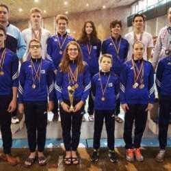 Înotătorii de la CSȘ Gloria au cules nu mai puțin de 20 de medalii la Timișoara