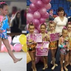 Kaitlyn Varga, fiica fotbalistului Norbi Varga, a luat aurul național la gimastică ritmică!