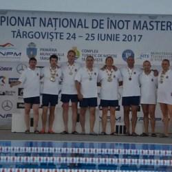 """Înotătorii veterani ai CSM-ului au dominat """"naționalele"""" de la Târgoviște"""