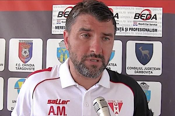 """UTA se inspiră de la Chindia: """"Vom avea și noi o agresivitate plăcută, dar și stadioane pline. Lângă FC Argeș, ca și brand, ținem la suporterii noștri"""""""