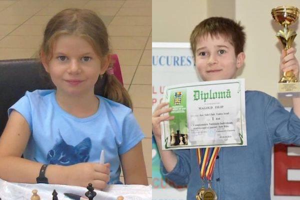 """Arădenii au strălucit la """"naționalele"""" de șah pentru copii și juniori: Sida și Magold – aur la Under 10"""