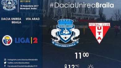 Photo of Livetext, ora 11.00: Dacia Unirea Brăila – UTA, 0-0 final