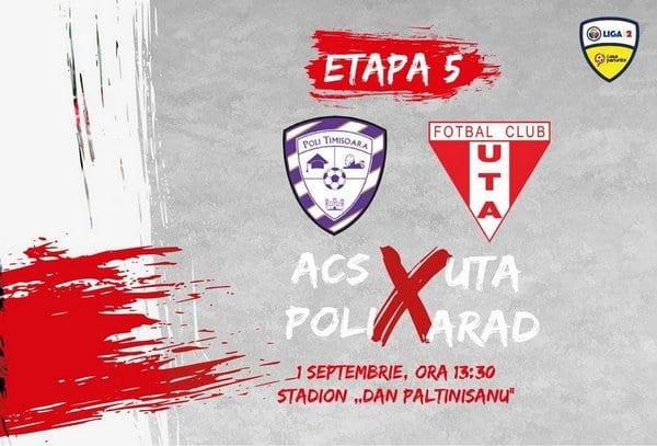 Livetext, ora 13:30: ACS Poli Timișoara – UTA 0-3, final