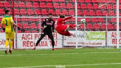 """Photo of Rus încheie turul cu zece goluri în """"alb-roșu"""" și se lansează într-un pariu: """"David Miculescu va fi următorul Denis Man"""""""