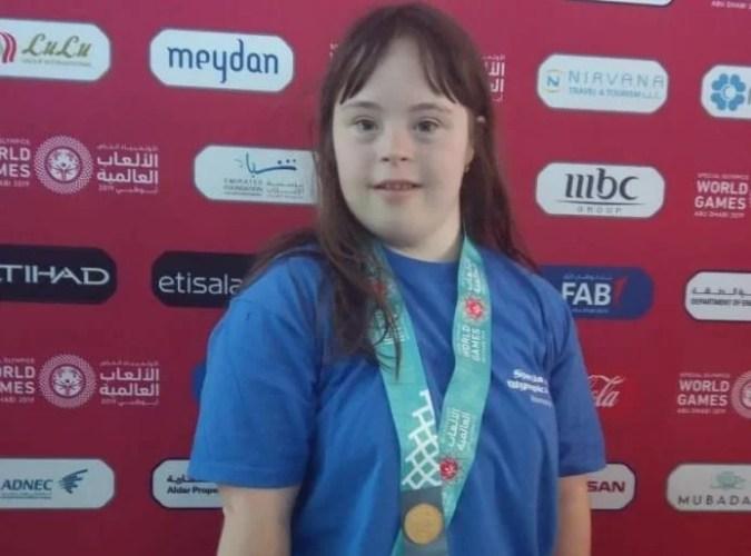 Arădeanca Mara Oprea, locul 4 la 100m craul în cadrul Jocurilor Mondiale Special Olympics 2019