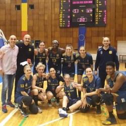 """Conturi încheiate după trei partide, """"galben-albastrele"""" în semifinale după 4 ani: CSM Târgoviște - FCC ICIM Arad 51-64"""