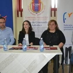 """Naționalele de gimnastică pentru junioare III sunt în plină desfășurare în Polivalenta arădeană: """"Oameni deschiși, care vor să facă ceva!"""""""