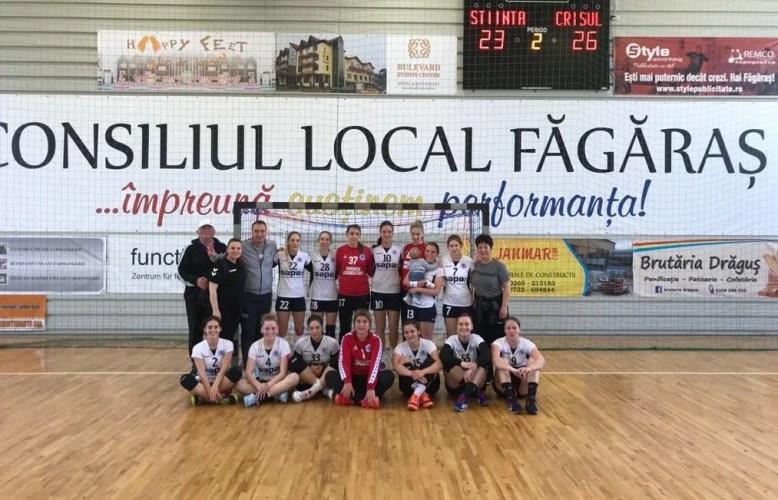 Au încheiat cu capul sus turneul semifinal: Crișul Chișineu Criș - CSU Știința București  26-23