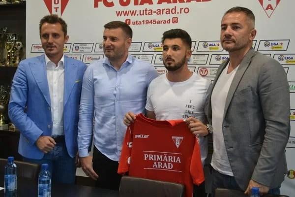 """Oprește Stancu tradiția fundașilor stânga juniori la UTA? """"Vreau să mă pregătesc cât mai bine, iar Mister va decide dacă voi juca sau nu"""""""