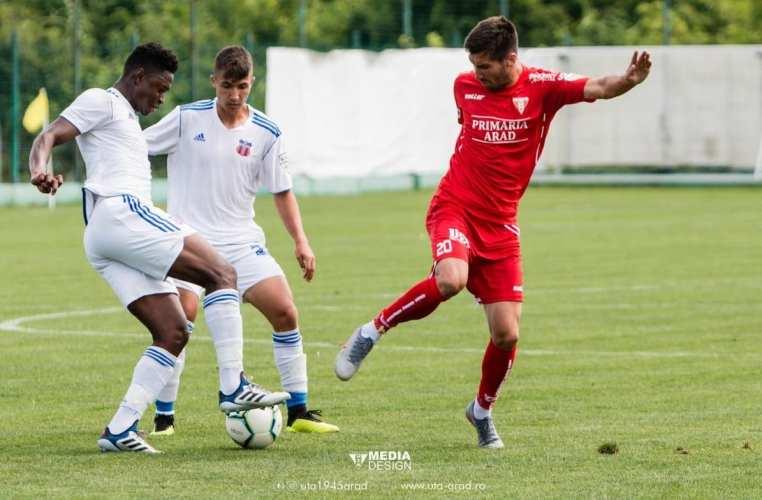 """Buhăcianu a ajuns la cota 6 goluri în amicalele verii pentru UTA: """"Importantă e echipa și ne legăm din ce în ce mai mult, atât fotbalistic, cât și ca grup"""""""
