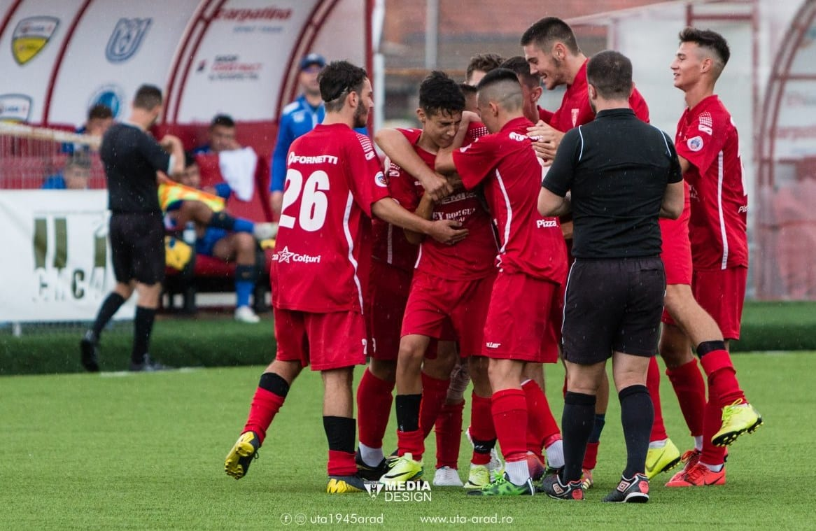 Șapte puncte, un singur gol încasat – palmaresul juniorilor Academiei UTA în etapa de Liga Elitelor