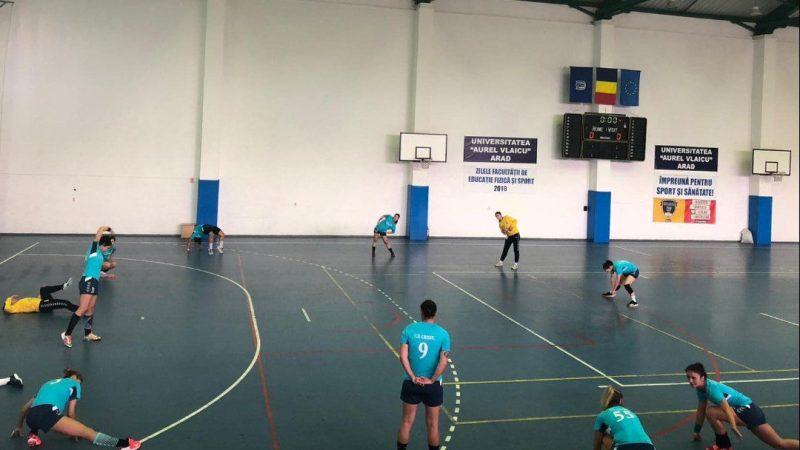 Debut apăsat în noua ediție a Diviziei A la handbal feminin: Crișul Chișineu Criș – CS Universitatea de Vest Timișoara 36-24