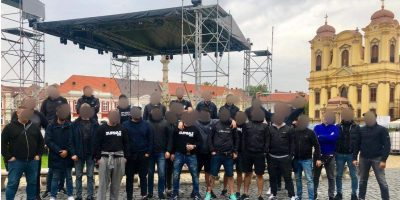 """Suporterii lui Dinamo – """"în stare de turbare"""" la Timișoara, înainte de a pleca spre Arad!"""