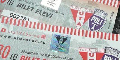 """Ultimele bilete la UTA – Poli se dau mâine dimineață, """"roș-albii"""" în cantonament la Intercontinental"""