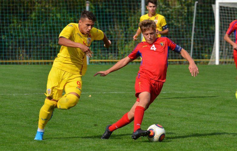 """Melniciuc a """"lovit"""" din nou pentru România U15, de data aceasta arădeanul a reușit """"dubla"""" în Republica Moldova"""