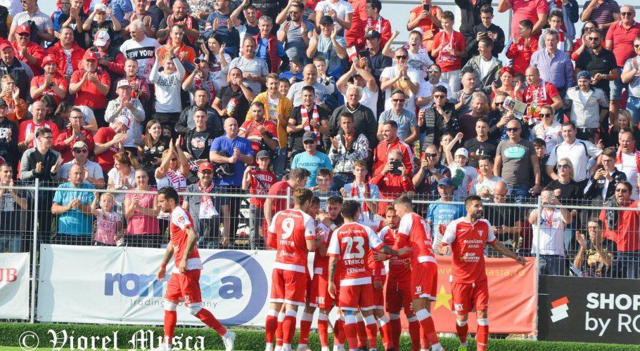 Încrâncenare și bucurie, povestea derby-ului UTA - ASU Poli (1-0) în imagini