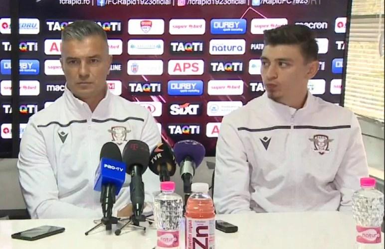 """Pancu pariază pe Hlistei și Jorza cu UTA: """"De obicei se cam marchează împotriva echipelor la care ai jucat"""" Balint - cel mai bun antrenor în opinia unui rapidist"""