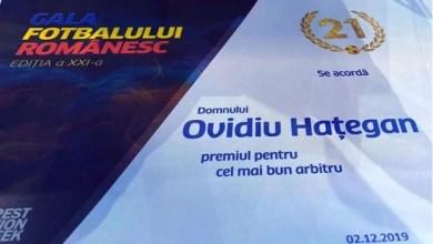 Photo of Ovidiu Hațegan a salvat onoarea Aradului la Gala Fotbalului Românesc