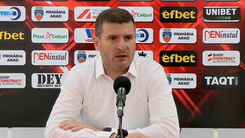 """Balint își asumă eșecul cu Poli Iași, dar subliniază: """"Este extrem de deranjant că echipa nu a avut suflet, s-a văzut un declin față de etapa trecută"""""""