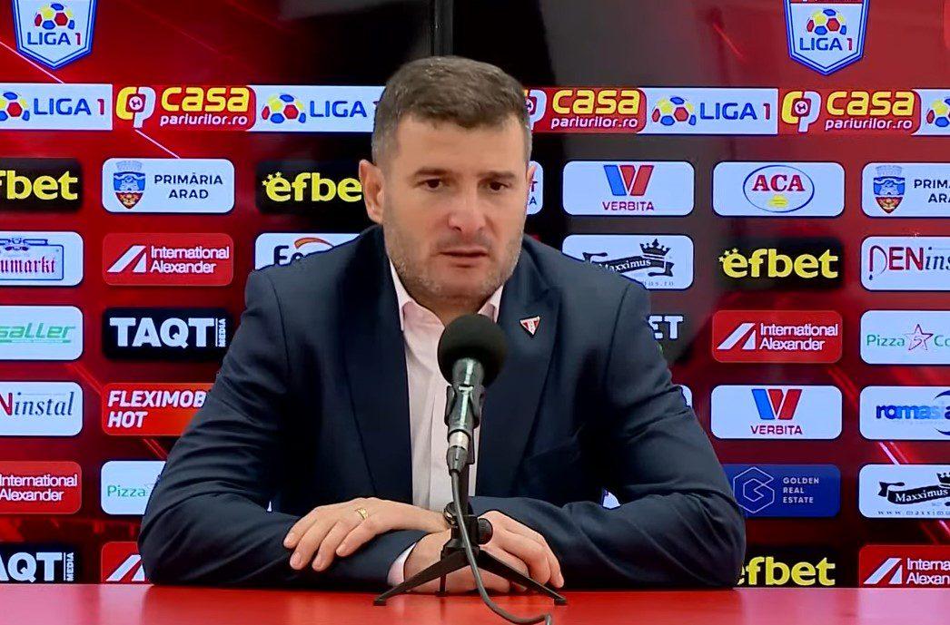 """Balint recunoaște că echipa sa nu a avut atitudine timp de o repriză, după care: """"Ne-a lipsit luciditatea, e extrem de deranjant că nu câștigăm acasă"""""""