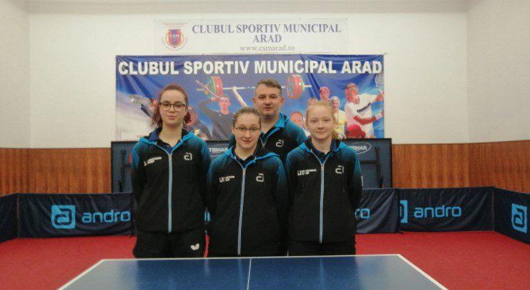 Fetele de la CSM Arad câştigă barajul şi se menţin în Superliga de tenis de masă!