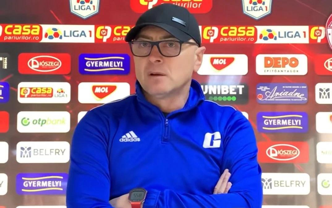 """Grozavu își face planuri de podium în Liga 1, dar o ia pas cu pas: """"Partida cu UTA e prima dintr-o serie foarte importantă, întâlnim o echipă foarte bătăioasă"""""""