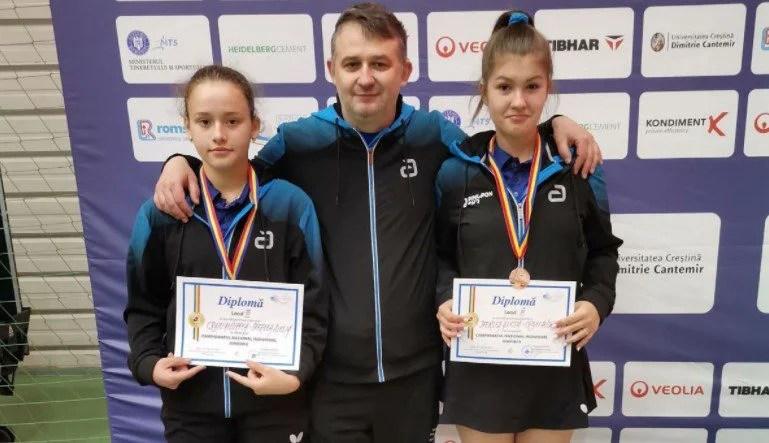 CSM Arad obţine încă două medalii naţionale, la tenis de masă